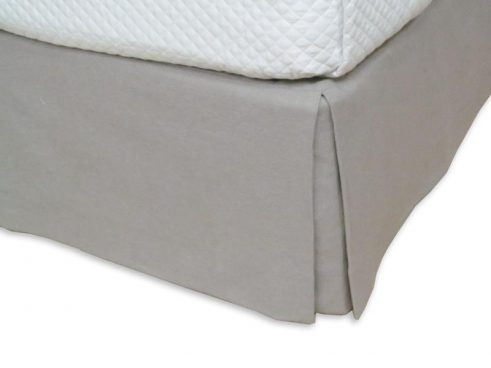 BED SKIRT – MOUSE GRAY 15″ DROP