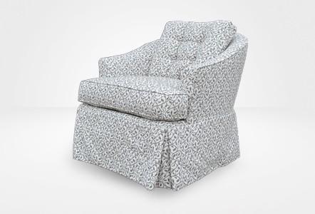 McClane Barrel Chair - Grey Leaves (Chameleon Fine Furniture™)