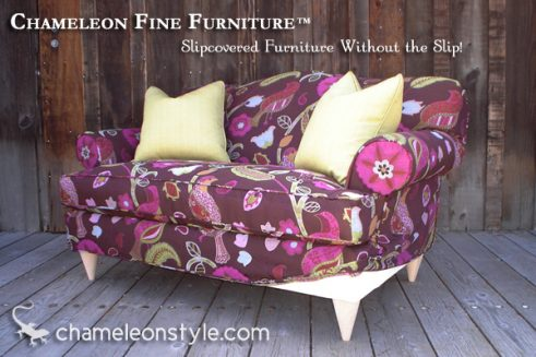 Jessica Loveseat in Avianis-Grape Fabric