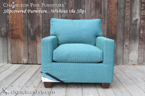 Kendall Chair - Turqouise Slipcover