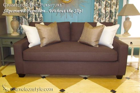 Kendall Midsize Sofa - Brown Slipcover