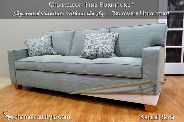 Kendall Sofa Modern Slipcovered Chameleon Fine Furniture