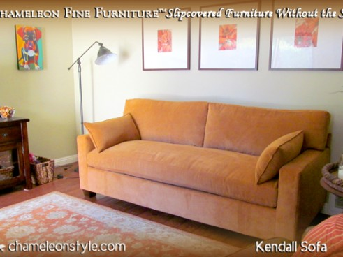 Kendall Sofa - Orange Microsuede