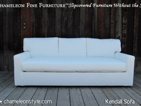Kendall Sofa - White with Three Back Cushions