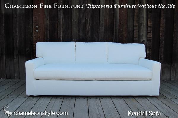 Kendall Sofa White With Three Back Cushions