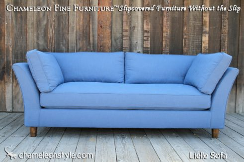 Lielle Sofa - Blue Slipcover