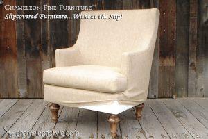 Mackenzie Chair in Glitz Filbert Fabric