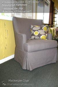 Mackenzie Chair Granite Slipcover