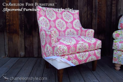 Mackenzie Chair in Dena Home Johara Citrus Fabric