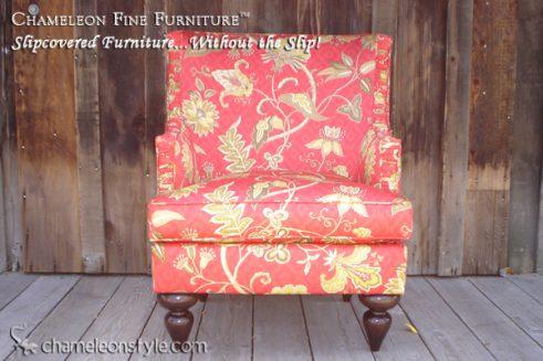 Mackenzie Chair in Iman Home Deauville Dance Amaryllis