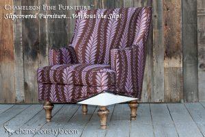 Mackenzie Chair in Iman Home Zahara Fabric