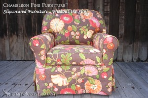Rachel Chair in Hip Chocolate Slipcover (Removable Upholstery)