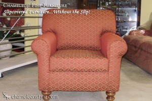 Rachel Chair in Red Slipcover (Removable Upholstery)