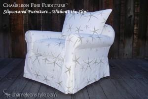 Rachel Chair in White Sea Star Slipcover (Removable Upholstery)