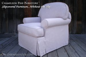 Raymond Chair in Lilac Slipcover (Removable Upholstery)