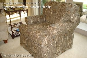 Raymond Chair in Paisley Slipcover (Removable Upholstery)