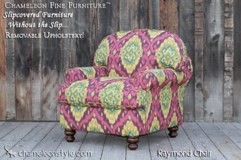 Raymond Chair in Iman Home Slipcover (Removable Upholstery)