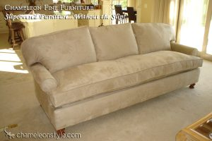 Raymond Sofa in Faux Suede Slipcover (Removable Upholstery)