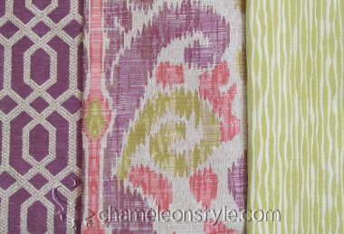 Friday Fabric Fix – Purple and Green Ikat