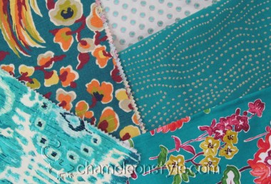 Friday Fabric Fix – Teals and Fun!