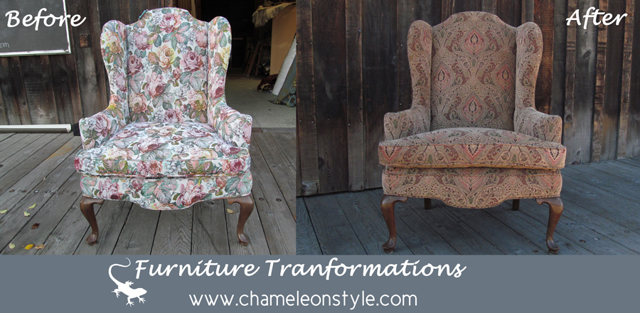 Antique Wingback Chair. Wingback Floral