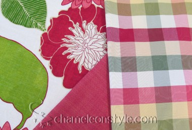 Friday Fabric Fix – Emily Floral and Plaid