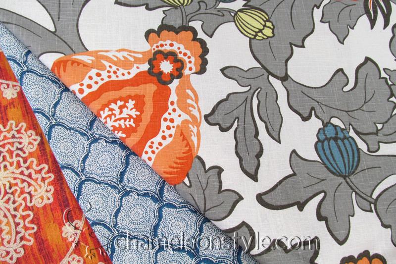 Friday Fabric Fix - Elisha Mandarin - Chameleon Style®