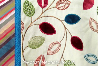 Friday Fabric Fix – Leaves and Jewel Tones
