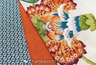 Friday Fabric Fix – A little Orange and a Little Blue