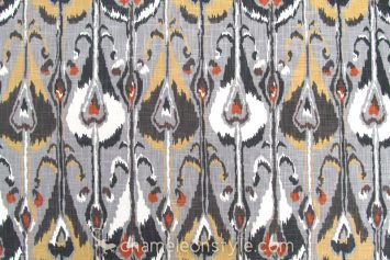 Ikat Bands-Greystone Fabric