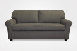 "Kerrie Slipcovered Apartment (Demi) Sofa, 3"" New Bun legs (dressed in green menswear plaid fabric) - Chameleon Fine Furniture™"