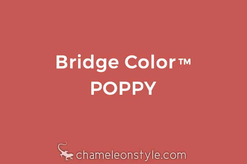 chameleon style bridge color poppy warm red with coral