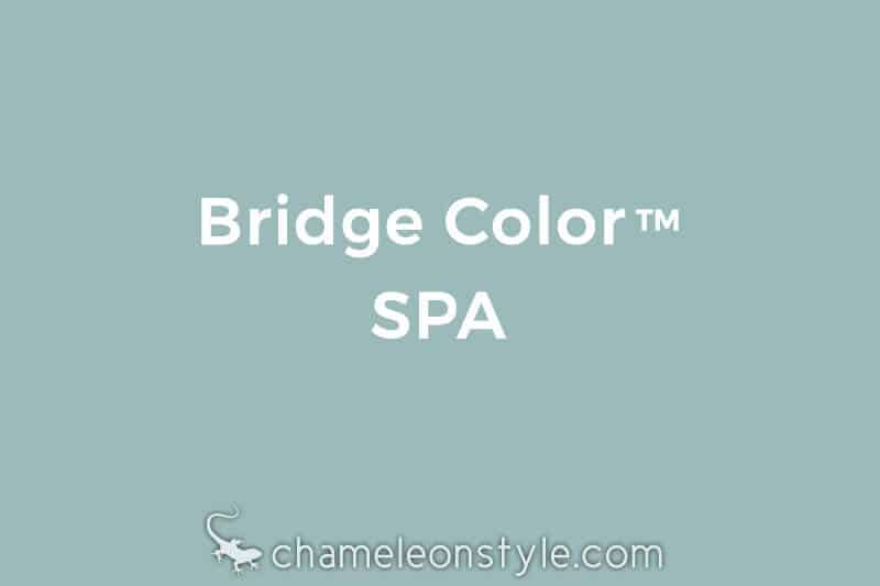 chameleon style bridge color spa aqua seamist