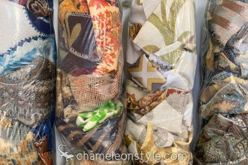 A close-up look at a Chameleon Style Scrap Bag!
