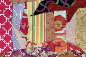 An example of the Pink/Magenta scraps included in a Chameleon Style Scrap Bag!