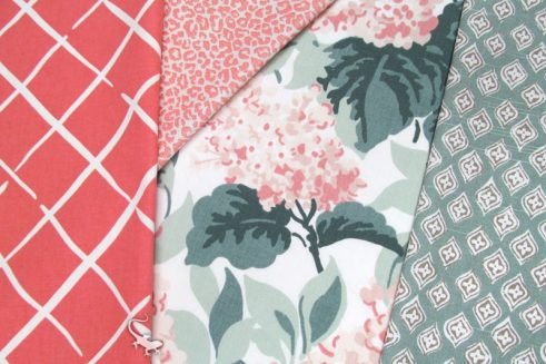 Friday Fabric Fix - Coral and Seamist