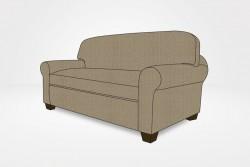 "Kerrie Slipcovered Loveseat, 1 Seat Cushion, 1 Back Cushion, 3"" Block Legs - Chameleon Fine Furniture™"