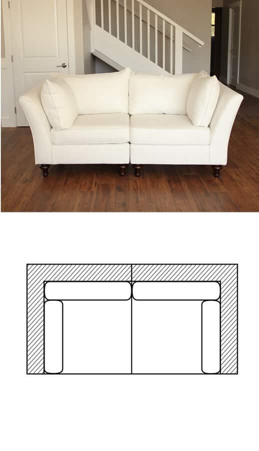 Lielle Sectional Slipcovered Sectional Chameleon Fine Furniture