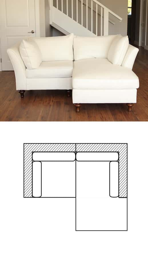 chameleon fine furniture lielle sectional in white fabric chameleon style