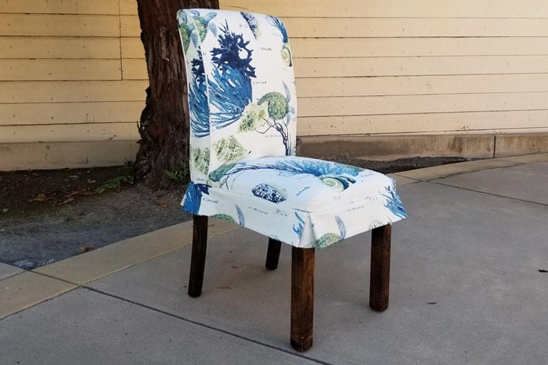 corales blue mediterraneo chameleon style parsons chair bridge color lagoon