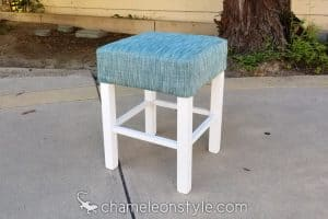 chameleon fine furniture parsons stool in dapper blue jay fabric chameleon style bridge color lagoon
