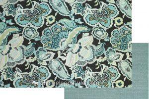 Suzette Charcoal with Calvin Lagoon chameleon style bridge color lagoon