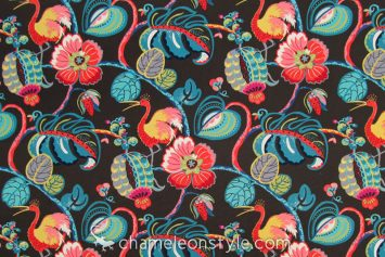 "Tropical Fete - Onyx Fabric.  <a href=""https://www.chameleonstyle.com/product/tropical-fete-onyx/"">Click here to buy it!</a>"