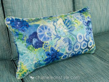 """16x26 Pillow Cover in Windflower - Sapphire.  <a href=""""https://www.chameleonstyle.com/product/power-pillow-cover-16x26-windflower-sapphire/"""">Click here to buy it!</a>"""
