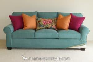 chameleon fine furniture kerrie sofa in prestige aqua fabric chameleon style bridge color lagoon