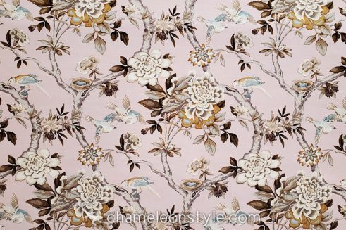 Mudan Blush Decorator Fabric