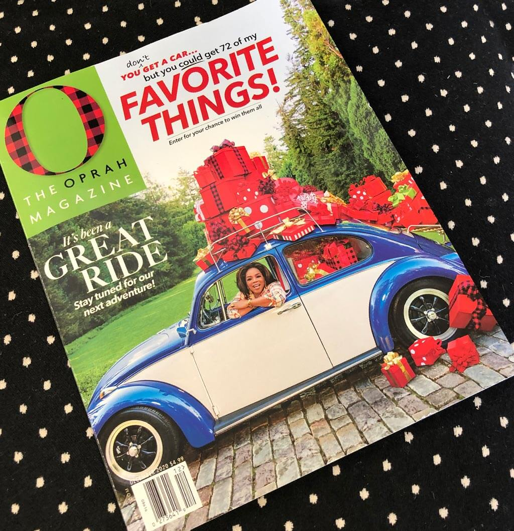 Oprah's Magazine Favorite things